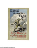 Vintage Posters:WWI, Lend The Way They Fight (W.F. Powers Litho Co., 1918)...