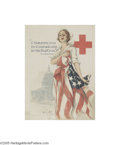 Vintage Posters:WWI, I Summon You To Comradeship in the Red Cross (American Lithographic Co., 1917)...