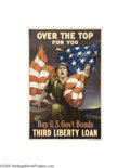 Vintage Posters:Miscellaneous, Over the Top For You: Third Liberty Loan (Ketterlinus, Philadelphia, 1917)...