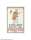 Vintage Posters:Miscellaneous, Our Daddy is Fighting at the Front for You - Back Him Up (T.F.Moore Co., New York, 1917)...