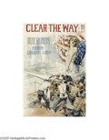 Vintage Posters:WWI, Clear The Way!! (Forbes, 1917)...