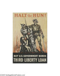 Vintage Posters:Miscellaneous, Halt the Hun (Edwards & Deutsch Litho Co. Chicago, 1918)...