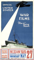 Vintage Posters:WWI, Official United States War Films Now Being Shown (Hegeman, 1918)...