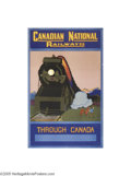 Vintage Posters:Miscellaneous, Canadian National Railroad, Through Canada. (Circa 1928)...