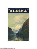 Vintage Posters:Travel, The Alaska Line (Farwest Lithograph and Printing Co. Seattle, c.1930)...