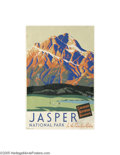 Vintage Posters:Miscellaneous, Canadian National Railroad, Jasper (Canadian Printing, Circa1935)...