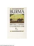 Vintage Posters:Travel, British Empire Exhibition 1925 Wembley, Burma (Dangerfield PrintingCo. Ltd. London, 1924)...