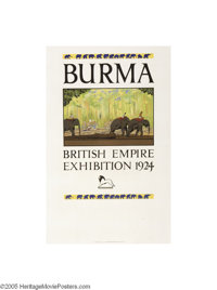 British Empire Exhibition 1925 Wembley, Burma (Dangerfield Printing Co. Ltd. London, 1924)