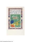 Vintage Posters:Travel, British Empire Exhibition 1925 Wembley,Music Wherever You Go (Dangerfield Printing Co. Ltd. London, 1925)...