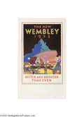 Vintage Posters:Travel, British Empire Exhibition 1925 Wembley, The New Wembley(Dangerfield Printing Co. Ltd. London, 1925)...