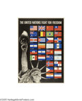 Vintage Posters:Miscellaneous, United Nations: Fight For Freedom (U.S. Government Printing Office,1942)...