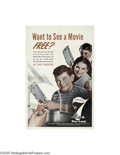 Vintage Posters:WWII, Want To See A Movie Free? 7th War Loan (U.S. Government PrintingOffice, 1944)...