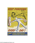 Vintage Posters:Travel, Keep Punching Every Day (U.S. Government Printing Office, 1943)...