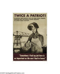 Vintage Posters:WWII, Twice a Patriot (U.S. Government Printing Office, 1944)...