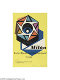 Vintage Posters:Miscellaneous, Milan (Amilcare Pizzi, 1957)...