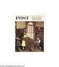 Vintage Posters:Advertising, Norman Rockwell Newsstand Flyer (Curtis Publishing Co., 1955)...