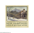 Vintage Posters:Travel, New Hampshire, Land of Glorious Winter (Rumford Press, 1936)...