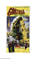 Movie Posters:Science Fiction, Godzilla (Toho, 1956)...