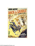 Movie Posters:Western, Back in the Saddle (Republic, 1941)...