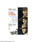 Movie Posters:Western, The Good, The Bad and The Ugly (United Artists, 1968)...