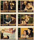Movie Posters:Drama, Guilty Hands (MGM, 1931).... (6 items)