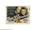 Movie Posters:Crime, Three Strangers (Warner Brothers, 1946)....