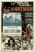 "Movie Posters:Serial, The Batman (Columbia, R-1954). One Sheet (27"" X 41"") Chapter 13 --""Eight Steps Down."" Serial...."