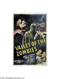 Movie Posters:Horror, Valley of the Zombies (Republic, 1946)....