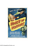 Movie Posters:Horror, House of Horrors (Universal, 1946)...