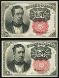 Fractional Currency:Fifth Issue, Fr. 1265 10¢ Fifth Issue XF;. Fr. 1266 10¢ Fifth Issue About New..... (Total: 2 notes)