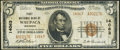 National Bank Notes:Wisconsin, Waupaca, WI - $5 1929 Ty. 2 First NB Ch. # 14063 Fine.. ...