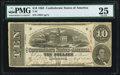 Confederate Notes:1863 Issues, T59 $10 1863 PF-19 Cr. 442 PMG Very Fine 25.. ...