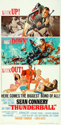 "Movie Posters:James Bond, Thunderball (United Artists, 1965). Folded, Very Fine-. Three Sheet (41"" X 83.5""). Frank McCarthy and Robert McGinnis Artwor..."
