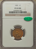 Proof Indian Cents, 1885 1C PR65 Red and Brown NGC. CAC. NGC Census: (63/59). PCGS Population: (115/75). PR65. Mintage 3,790.. From The Spe...