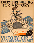 "Movie Posters:War, World War I Propaganda (Victory Girls United War Work Campaign, 1918). Very Fine on Linen. Poster (22"" X 27.5"") ""Every Girl ..."