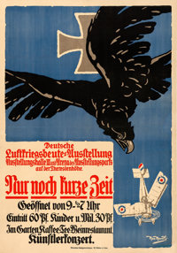 "World War I Propaganda (1918). Fine/Very Fine on Linen. German Exhibition Poster (33"" X 47.25"") ""German A..."