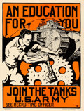 Movie Posters:War, Army Recruitment (U.S. Army, 1919). Very Fine on Linen.