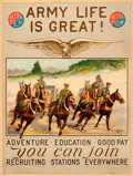 Movie Posters:War, Army Recruiting (U. S. Army, 1920s). Poster (18.75...