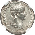 Ancients:Roman Imperial, Ancients: Tiberius (AD 14-37). AR denarius (18mm, 3.77 gm, 9h). NGCMS 4/5 - 4/5....