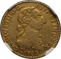 Colombia, Colombia: Charles III gold 2 Escudos 1763 NR-JV AU50 NGC,...