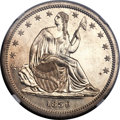 Proof Seated Half Dollars, 1839 50C No Drapery PR62 NGC. WB-101....
