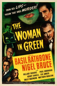 """The Woman in Green (Universal, 1945). Folded, Very Fine-. One Sheet (27"""" X 41"""")"""