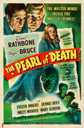 "Movie Posters:Mystery, The Pearl of Death (Universal, 1944). Folded, Very Fine-. One Sheet (27"" X 41"").. ..."