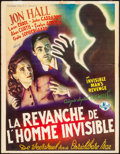 "Movie Posters:Horror, The Invisible Man's Revenge (Universal, Late 1940s) Folded, Fine+. Trimmed Frist Release Belgian (14.25"" X 18.25""). Horror...."
