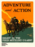 Movie Posters:War, Army Field Artillery (U.S. Army, 1919). Very Fine on Linen...