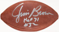 Autographs:Footballs, Jim Brown Signed Football....