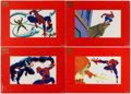 Animation Art:Limited Edition Cel, Spider-Man Limited Edition Animation Cels (Marvel, 1994)....(Total: 4 Items)