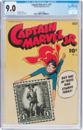 Golden Age (1938-1955):Superhero, Captain Marvel Jr. #21 (Fawcett Publications, 1944) CGC VF/NM 9.0 Cream to off-white pages....