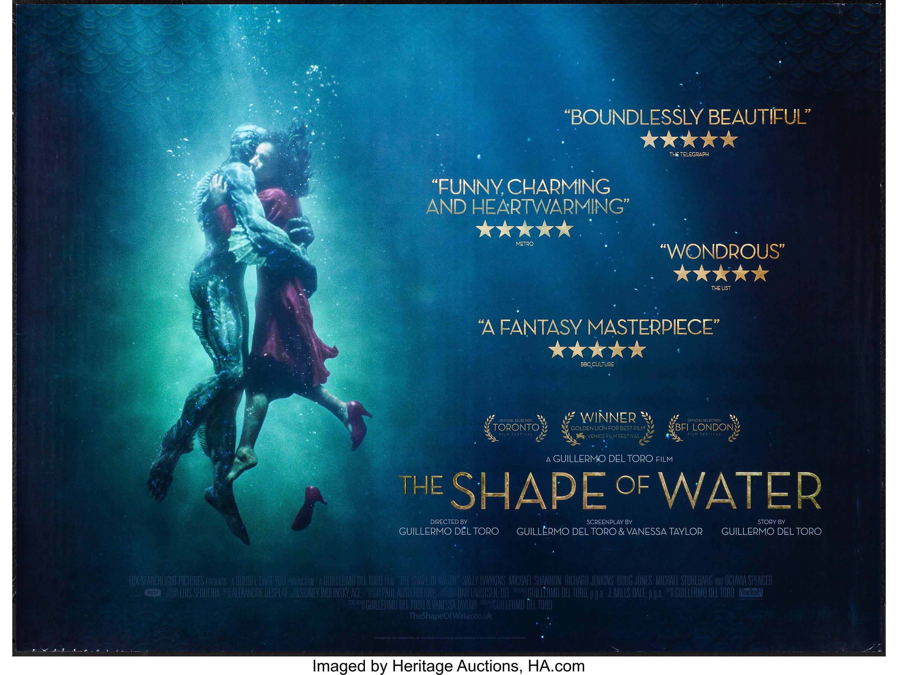 The Shape Of Water 20th Century Fox 2017 Rolled Very Fine