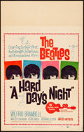 """Movie Posters:Rock and Roll, A Hard Day's Night (United Artists, 1964). Fine+. Window Card (14"""" X 22""""). Rock and Roll.. ..."""